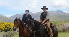Kodi Smit-McPhee and Michael Fassbender in Slow West