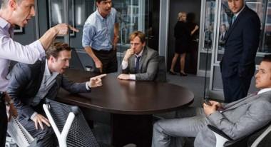 Steve Carell, center, Ryan Gosling, far right