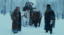 Kurt Russell, James Parks and Samuel L. Jackson in  The Hateful Eight