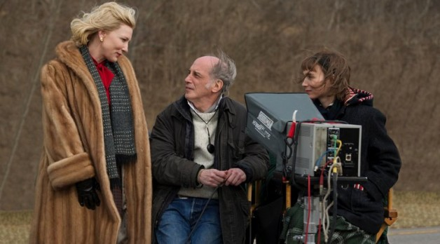 Cate Blanchette and Rooney Mara with Ed Lachman on Carol