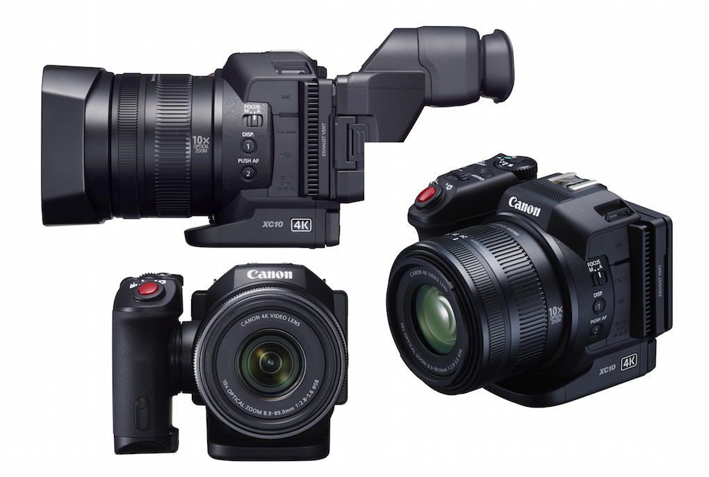 Honey, I shrunk the C100! Canon's 4K XC10 is half the height of the Cinema EOS cameras and at $2000, a fraction the price. Small, light, with an easy-to-hold grip, it has stealth written all over it. Features a 1-in. sensor, fixed 10x zoom, and the same Digic DV 5 processor (just one of them) found the C300 Mark II. Oh, and it also takes 12-megapixel stills.