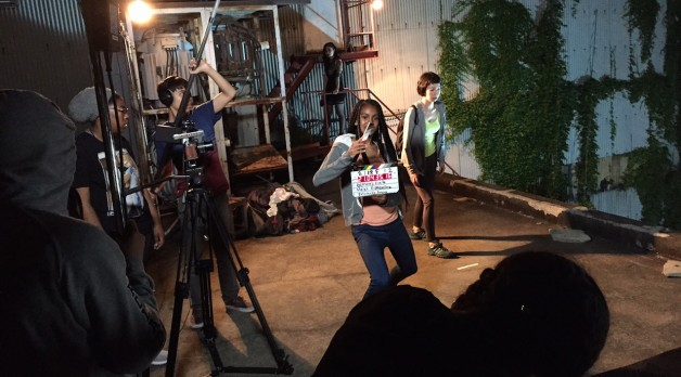 Students on set at Ghetto Film School (Photo courtesy of Ghetto Film School)