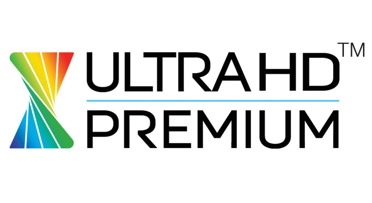 A new soon-to-be familiar logo this year, badging a set of TV standards adopted in January by Hollywood and the electronics industry. (Excepting Sony, which helped formulate the standards but will skip the logo). Specs include 3840 x 2160, Rec. 2020 input, minimum 10-bit color bit depth, minimum 90% DCI-P3 colors displayed, and perhaps most significantly, true HDR based on the new SMPTE 2084 HDR transfer function.