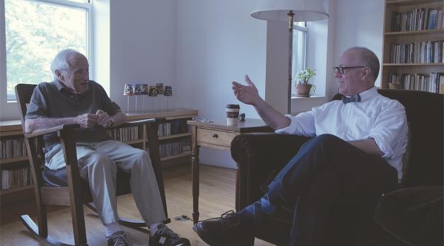 Walter Bernstein and James Schamus (Photo by Gustavo Rosa)