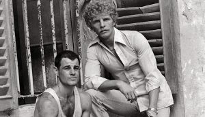 """Publicity photo of the real William """"Billy"""" Hayes with Brad Davis (left), from The Oliver Stone Experience (Abrams), courtesy of Oliver Stone and Ixtlan Productions"""