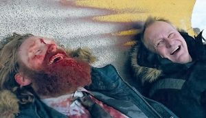 Kristofer Hivju and Stellan Skarsgard in In Order of Disappearance