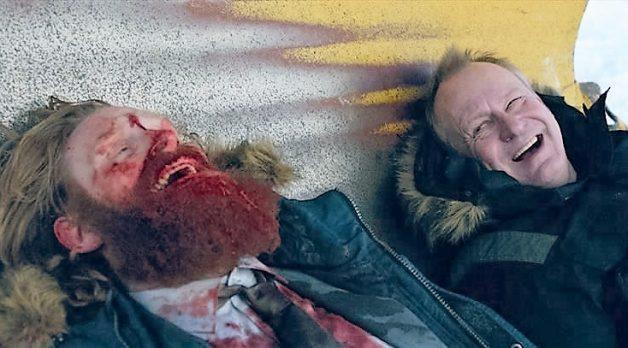 Kristofer Hivju and Stellan Skarsgard in In Order of Disappearance