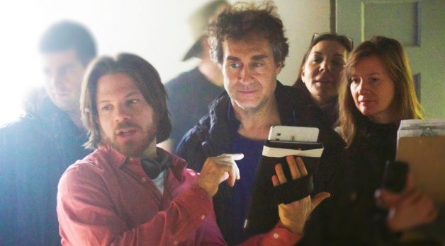 Doug Liman on the set of Invisible