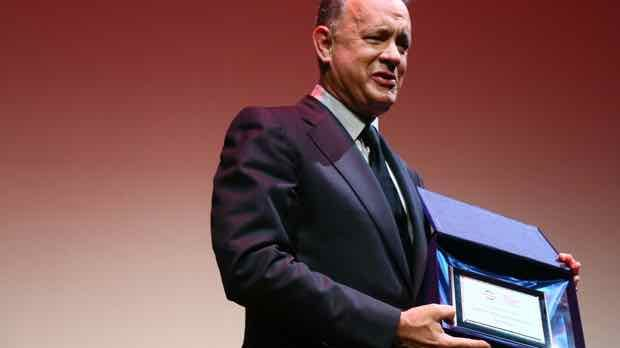 Tom Hanks is awarded  with the  Lifetime Achievement Award during the 11th Rome Film Fest.  (Photo by Ernesto Ruscio/Getty Images)