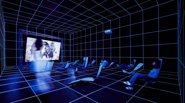 Hito Steyerl (b. 1966), Factory of the Sun, 2015. (Photo: Sarah Wilmer)